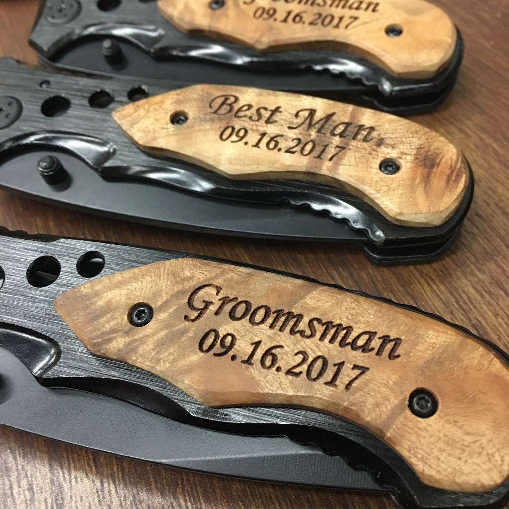 groomsmen pocket knives