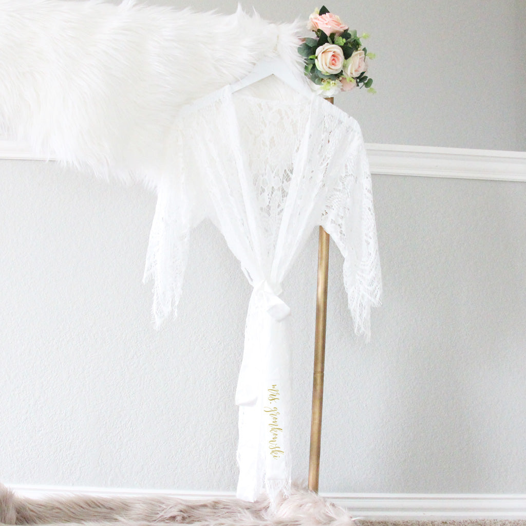 Full Lace Bridal Robe