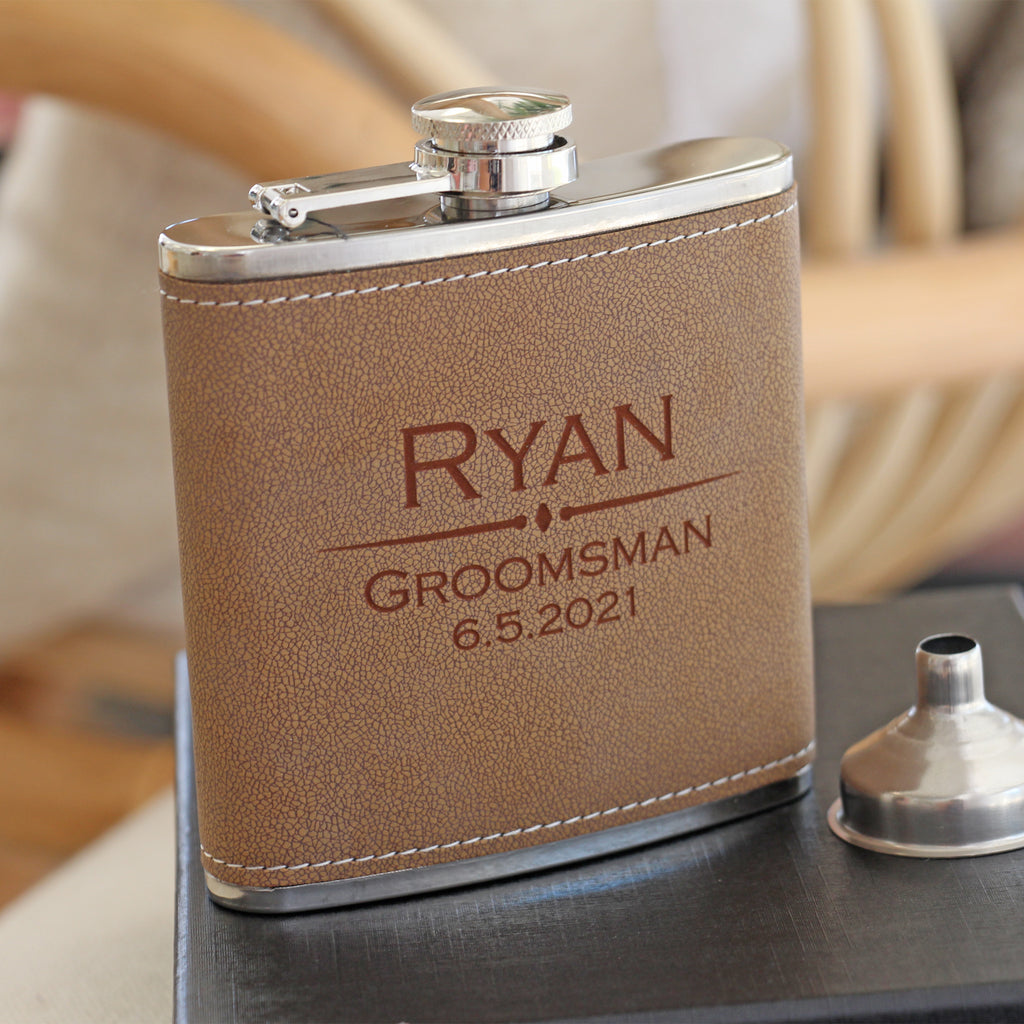 Flask with Funnel Set (Leather)