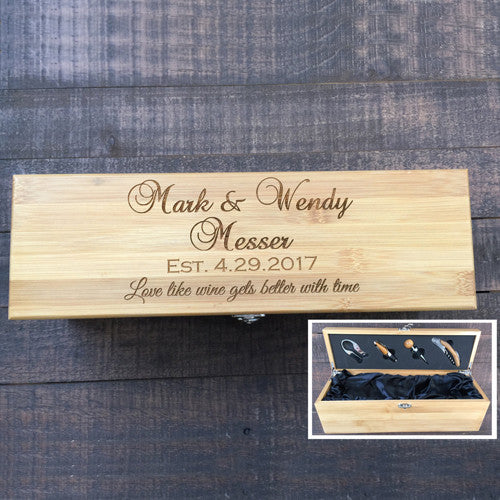 Personalized Wedding Wine Box Gift