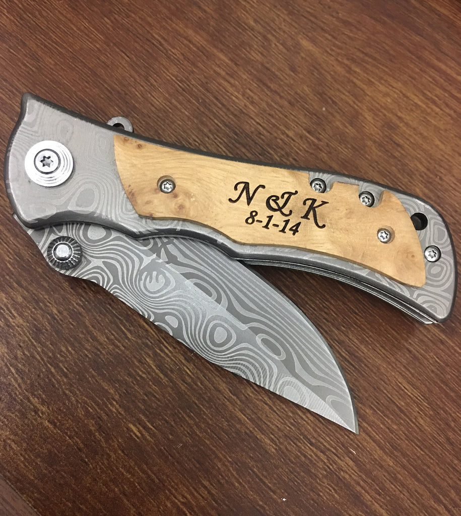 pocket knife monogram