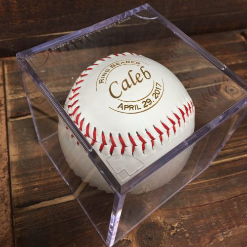 Custom Baseball Ring Bearer Gift