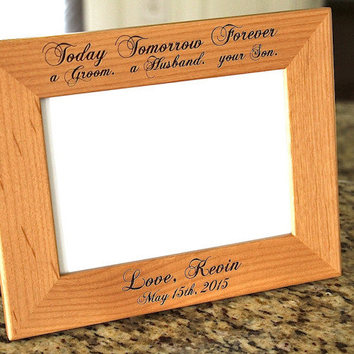 Engraved Picture Frame Today a Husband