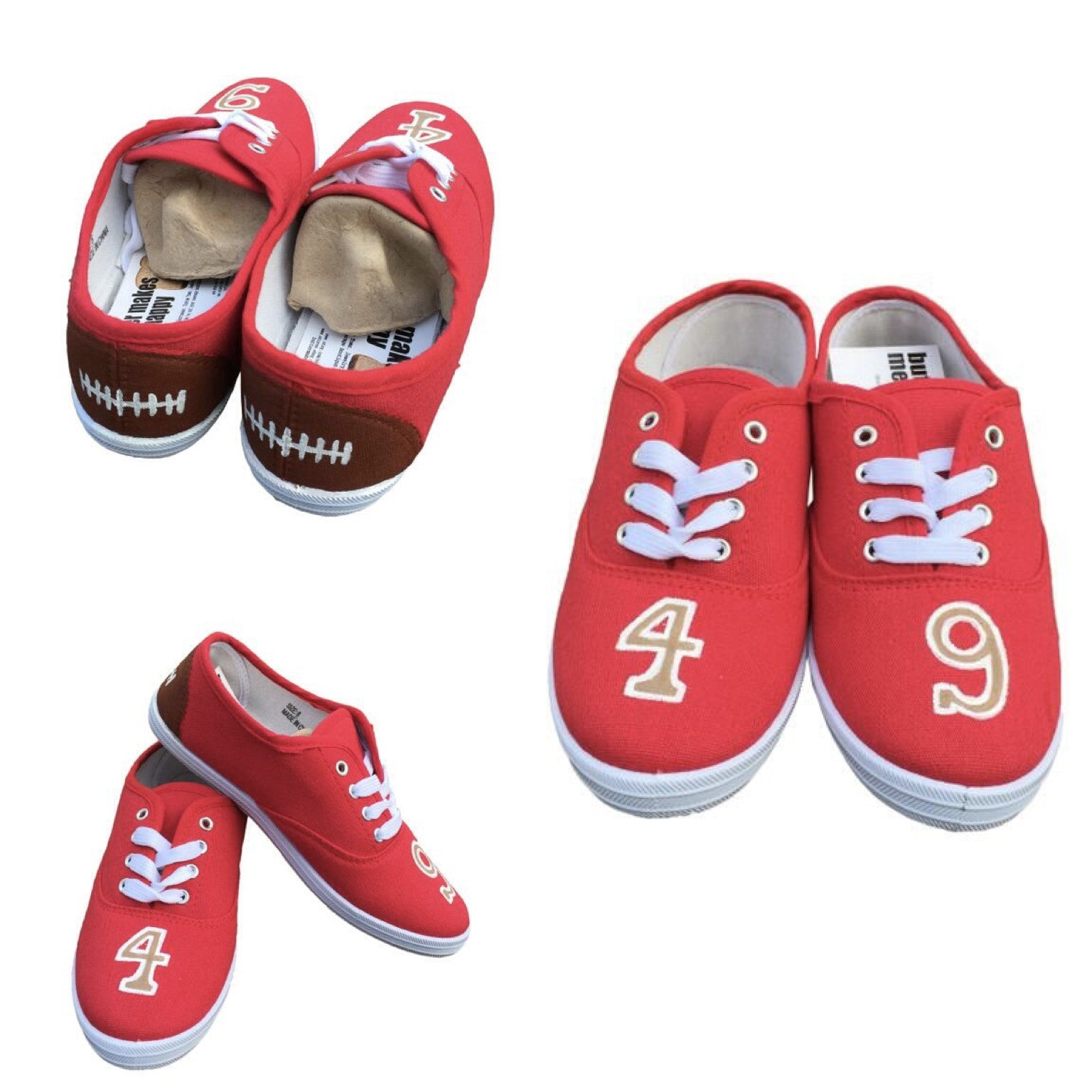 23e1e368 San Francisco 49ers Handpainted Shoes