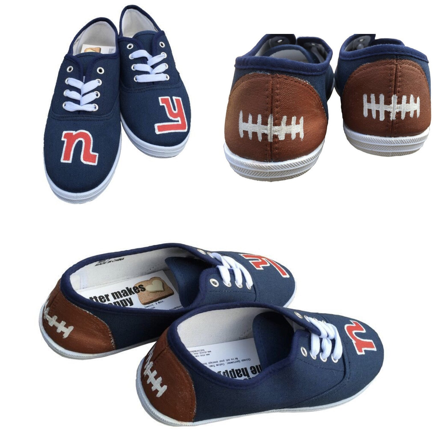 New York Giants Hand Painted Shoes