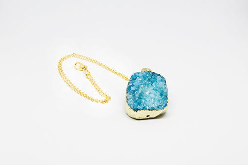 Turquoise Druzy Agate Necklace