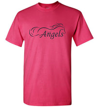 "Horse Angels ""Pledge"" Tee with Wings on Back (black logo)"