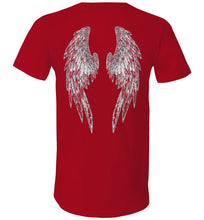 "Horse Angels ""Pledge"" V Tee with Wings on Back (black logo)"