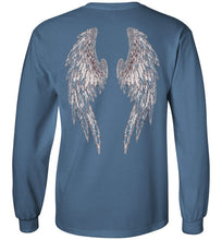 "Horse Angel's ""Pledge"" Long Sleeve Tee with Wings on Back (black logo)"