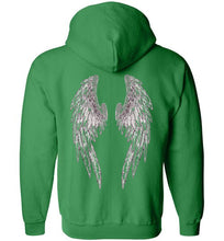 Horse Angel Zip Hoodie with Wings on Back - Save a Grey Memorial Fund