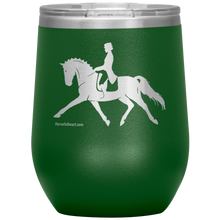 Fancy Dressage 12oz. Stainless Steel Stemless Wine Tumbler