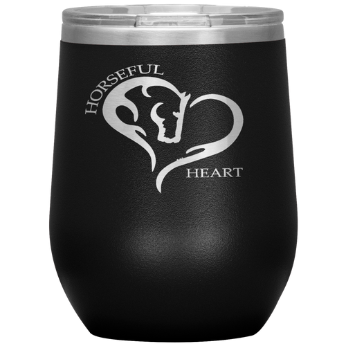 Horseful Heart 12oz. Stainless Steel Wine Tumbler