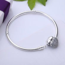 Sterling Silver Horseful Heart Angel Bead on Pandora Style Bracelet