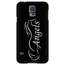 New Horse Angels Galaxy Phone Cover - Black