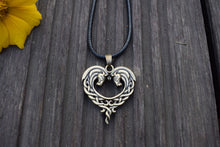 Celtic Horseful Heart Pendant