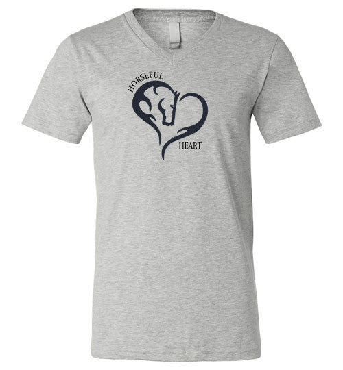 Horseful Heart Unisex V-Neck Tee