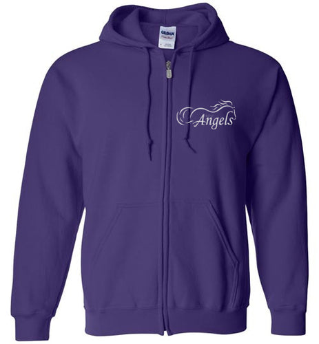 Horse Angel Zip Hoodie (plain back) - Save a Grey Memorial Fund