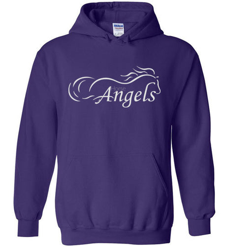 Horse Angels Heavy Blend Hoodie in Dark Colors