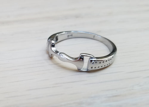 Sterling Silver Snaffle Bit Ring