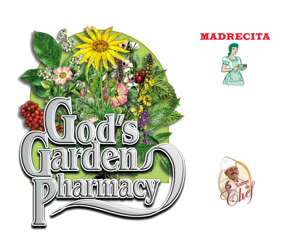 God's Garden Pharmacy Madrecita and Sabor de Chef logo