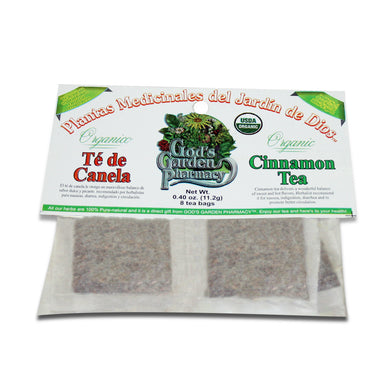 Organic Cinnamon Herbal Tea - Té de canela organica