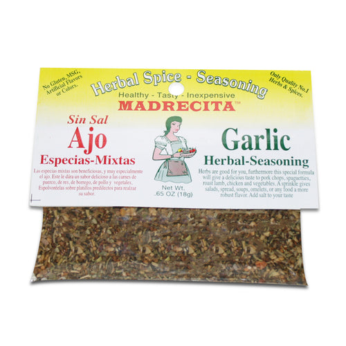 Salt Free Garlic Herbal Seasoning - ajo y especias mixtas sin sal