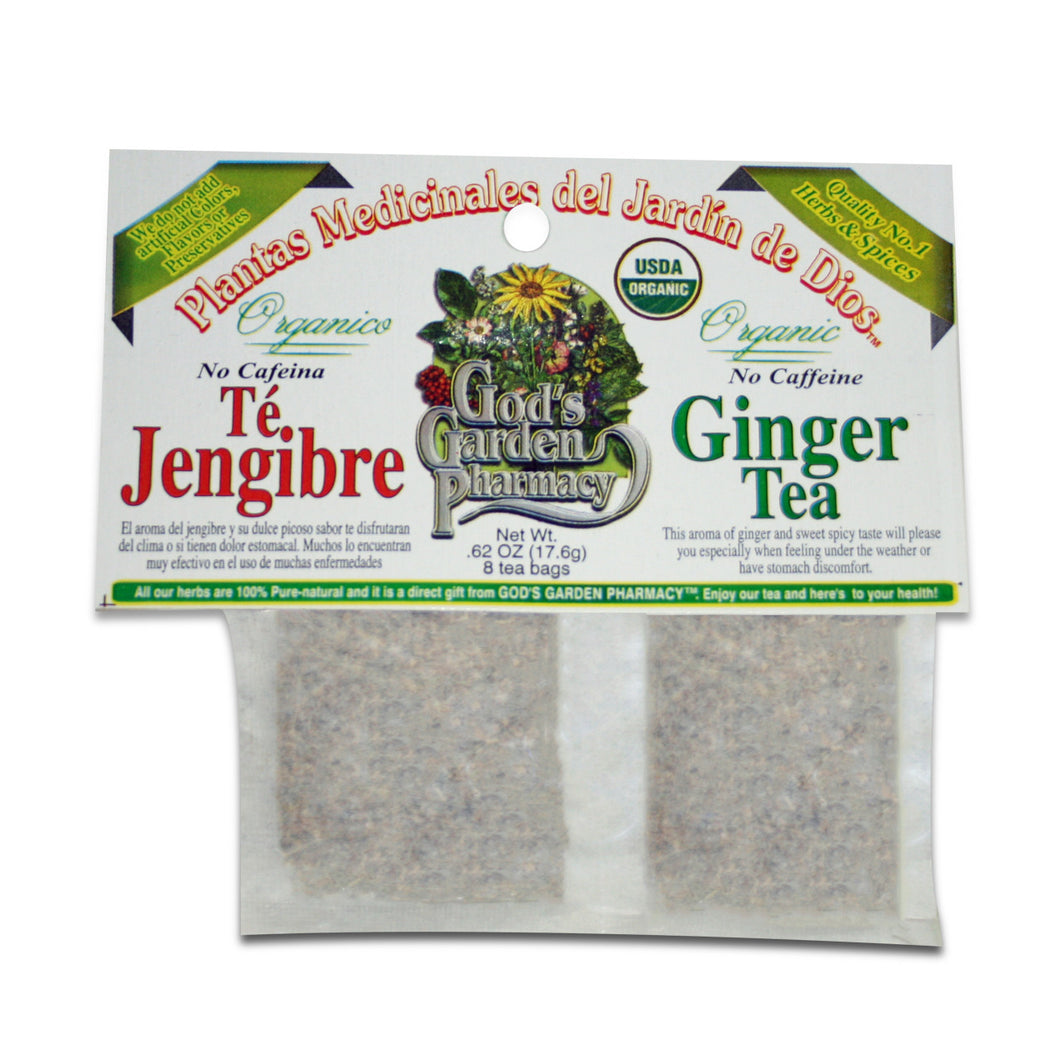 Organic ginger herbal tea - Té jengibre organico