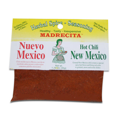 Hot New Mexico Chili, ground - Chile nuevo Mexico molida