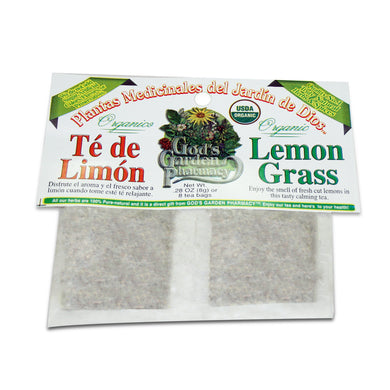 Organic lemon grass herbal tea - Té de limon organico