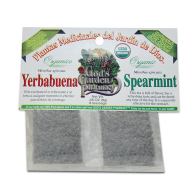 Organic Spearmint Herbal Tea - te de yerbabuena organica