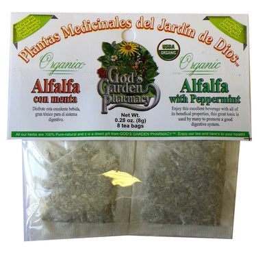 Organic Alfalfa with Peppermint Herbal Tea
