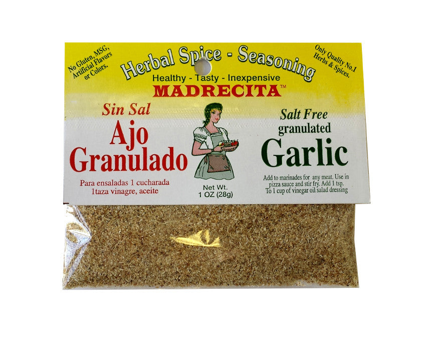Salt Free Granulated Garlic - ajo granulado sin sal