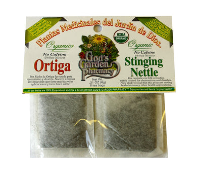 Organic stinging nettle herbal tea - ortiga organica
