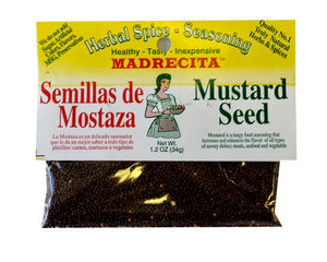 Mustard seeds, whole - semillas de mostaza