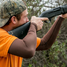 Brown Arm Coverings for Hunting