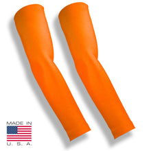 Neon Orange Mosquito Repellent Arm Sleeves