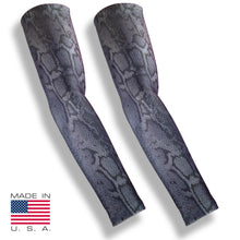 Grey Snakeskin Anti Mosquito Hunting Arm Sleeves