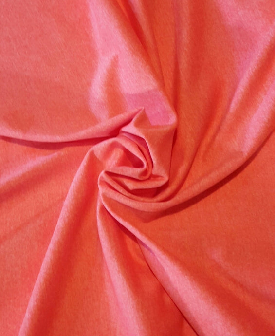 Marle Brushed Spandex - Shocking Orange