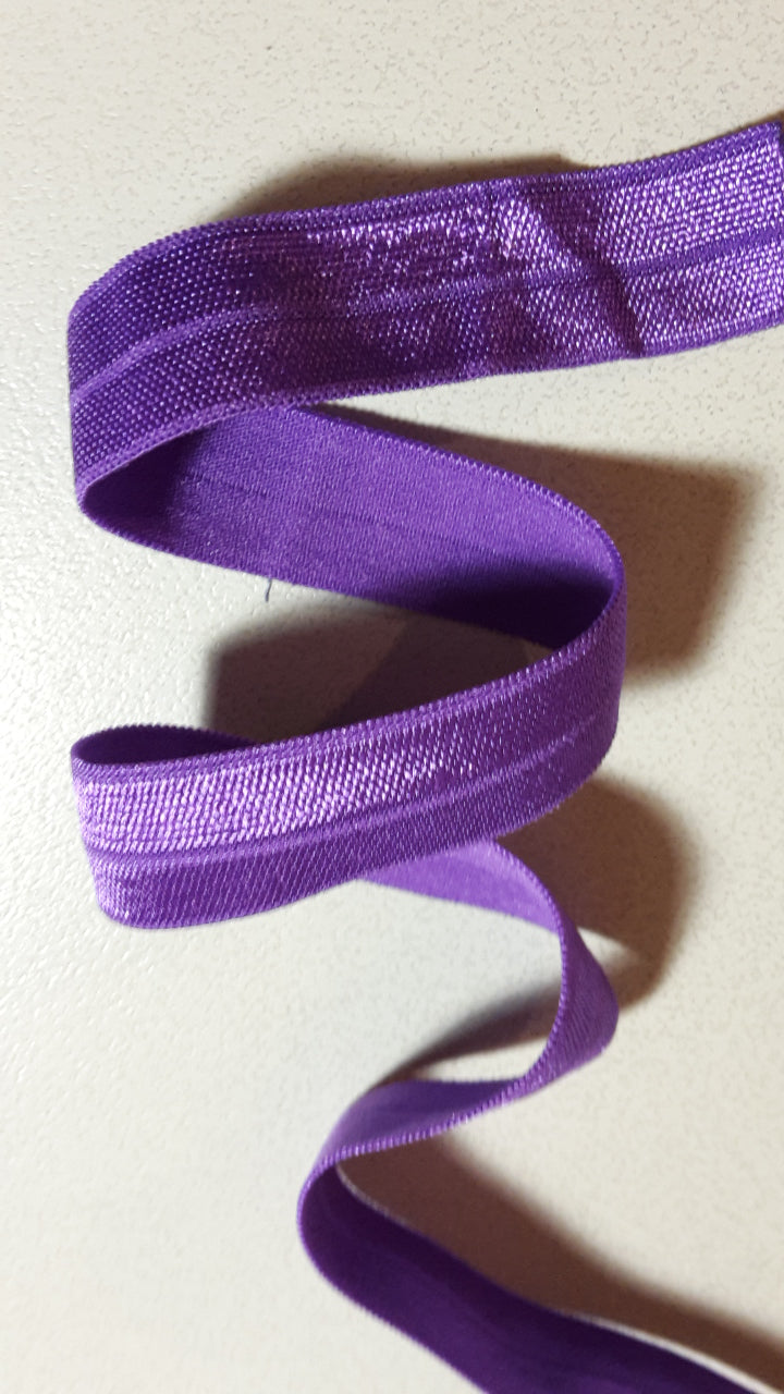Fold-Over Elastic, Purple