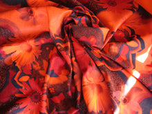 Wicking Compression Spandex - Orange Hippy Floral