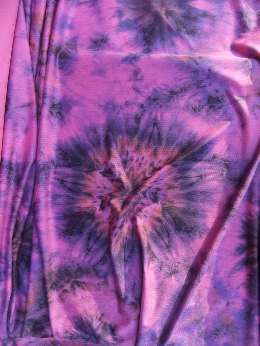 Lightweight 'Mesh' Knit - Purple Tie Dye