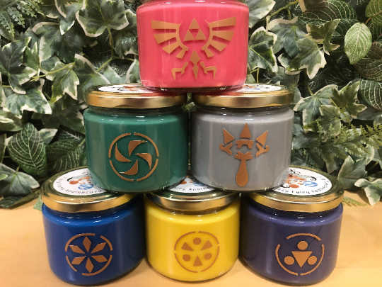 Legend of Zelda: Ocarina of Time Inspired Candle Set