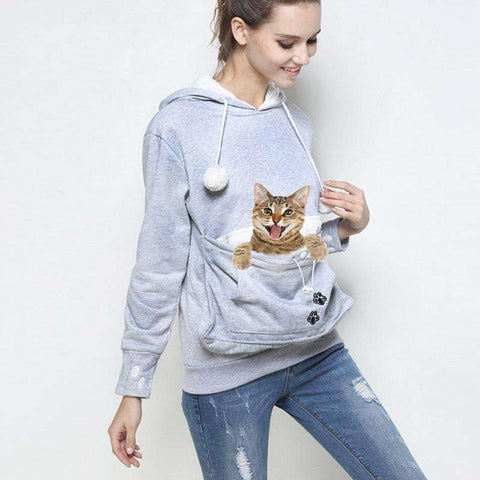 Kitty Roo Pouch Hoodie - Tooty Store