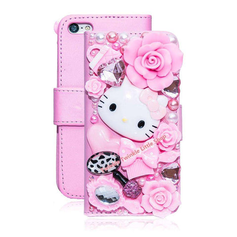 Hello Kitty Flip Wallet Leather Case For iphone - Tooty Store