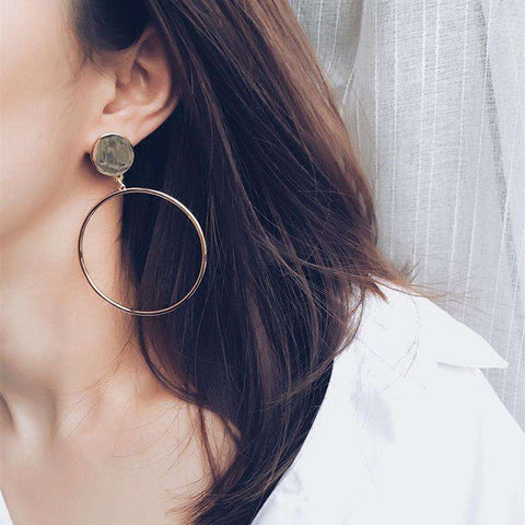 Big Circle Dangle Earrings - Tooty Store