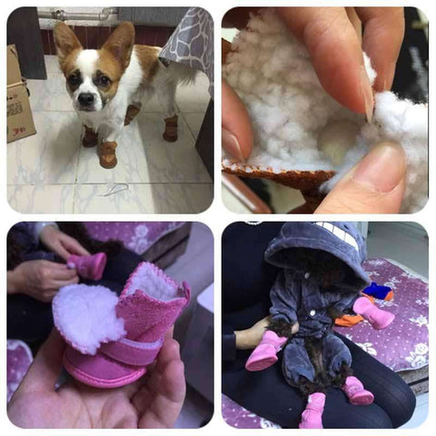 Classic Pet Shoes for Dogs Cats Winter