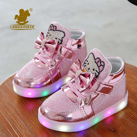 Hello Kitty Girls Shoes With LED Light - Tooty Store