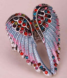 Angel wings stretch ring women biker bling jewelry antique - Tooty Store