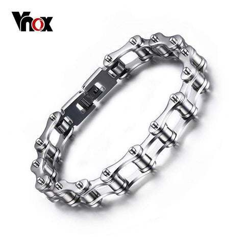 Vnox 316l Stainless Steel Bracelets Long Biker Bicycle Chain - Tooty Store