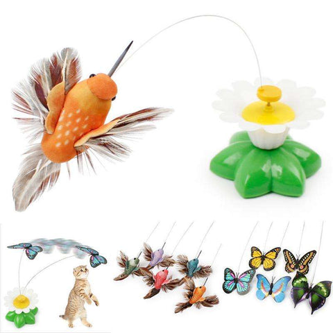 Cute Electric Butterfly/Bird Cat Teaser Toy - Tooty Store